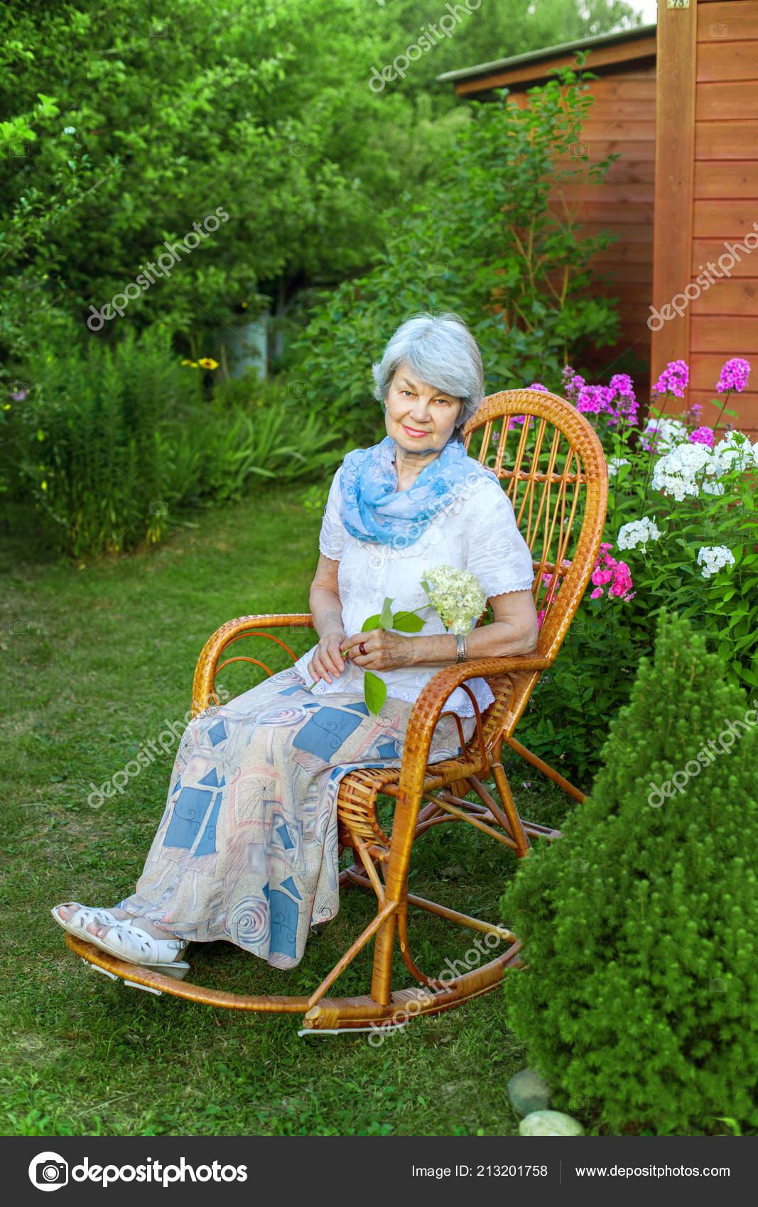 Woman Garden Chair Stock Photos Royalty Free Woman Garden Chair