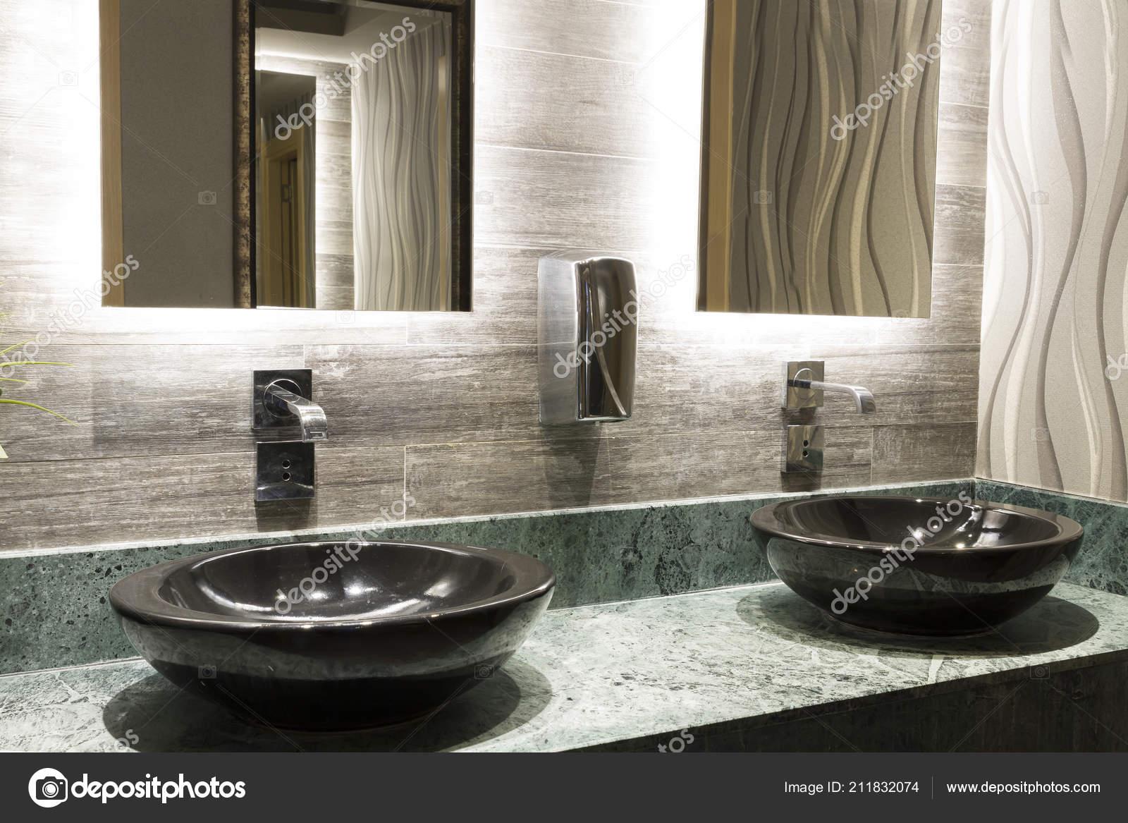 Green Special Design Marble Counter Black Top Counter Washbasin Beautiful Stock Photo Image By C Nadirkeklik 211832074