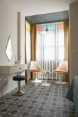 zár megjelöl kilátás a modern üres szoba belső
