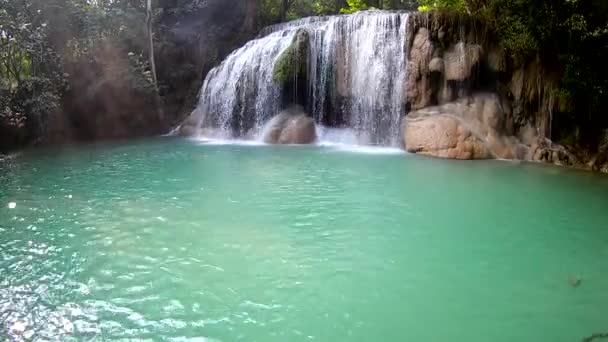 Erawan Waterfall 2nd level, Erawan National Park in Kanchanaburi, Thailand