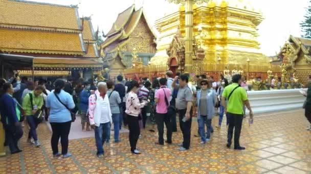 CHIANG MAI THAILAND - DECEMBER 8,2018 : tourist walking  around Thai temple in Chiang Mai, Thailand