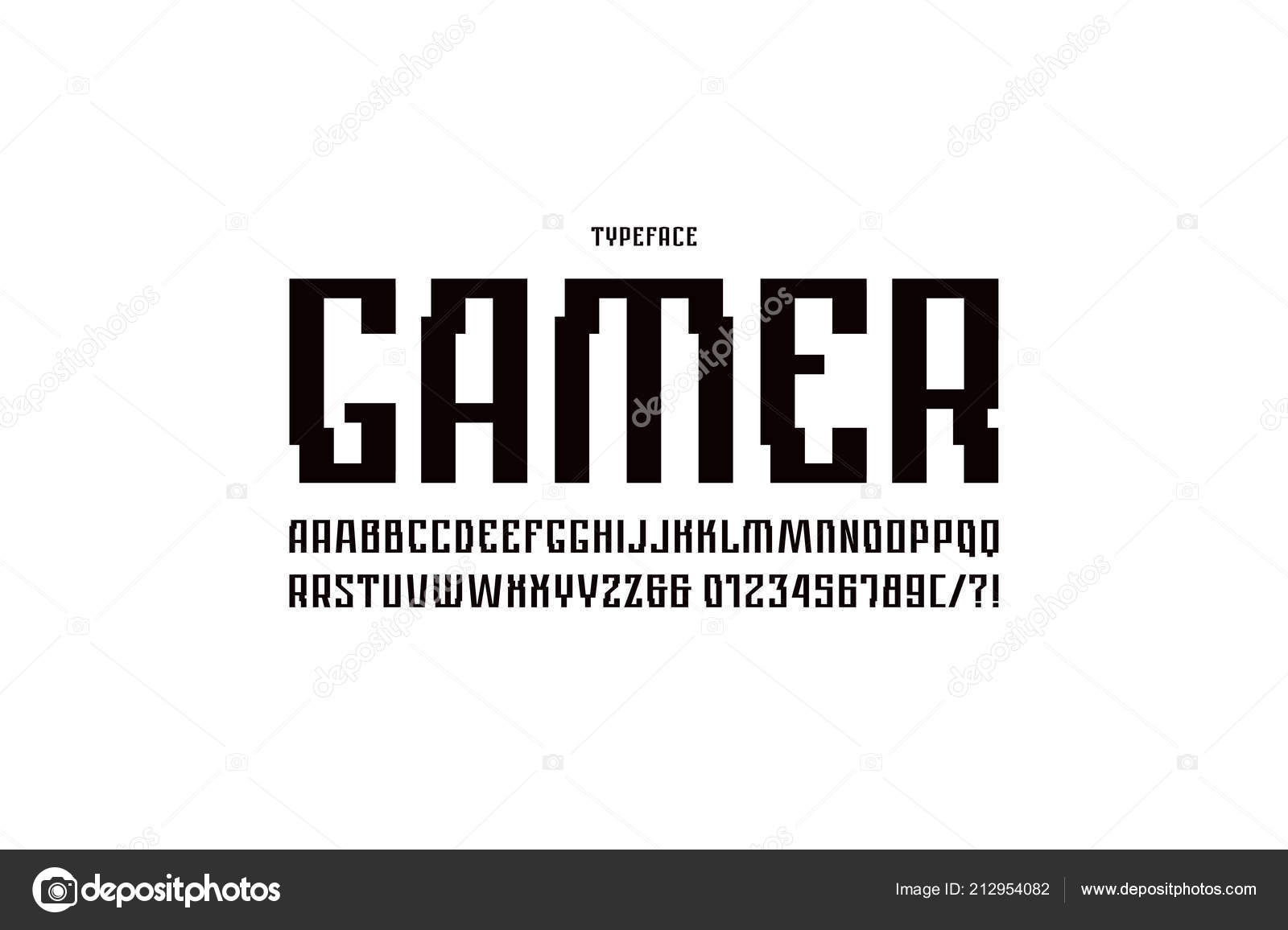 Narrow Sans Serif Font Cyber Style Letters Numbers Sci Cosmic Stock Vector C Neuevector 212954082