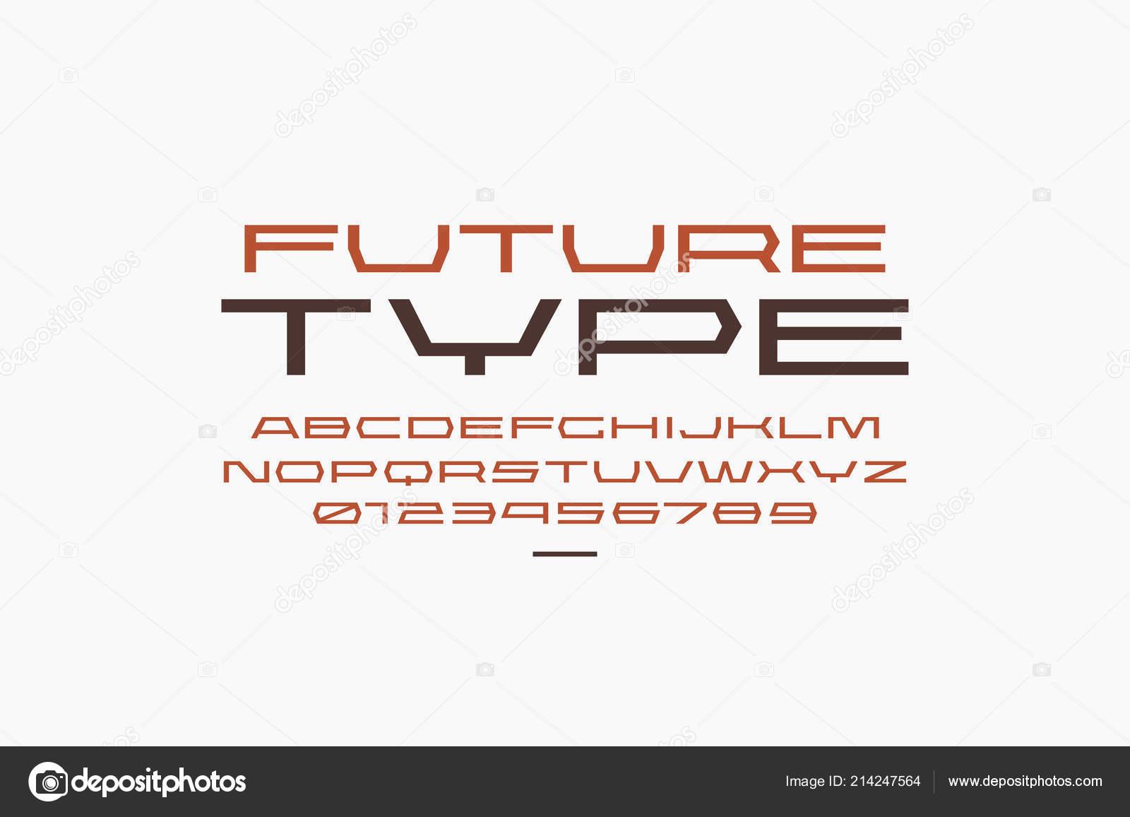 2ff947983 Ultra Expandido Fontes Geométricas Sem Serifa Estilo Esporte Letras Números  — Vetores de Stock