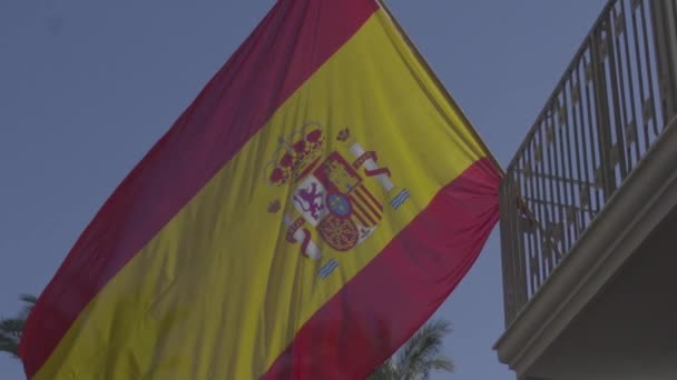 Lassú mo spanyol zászló mozgott a szél