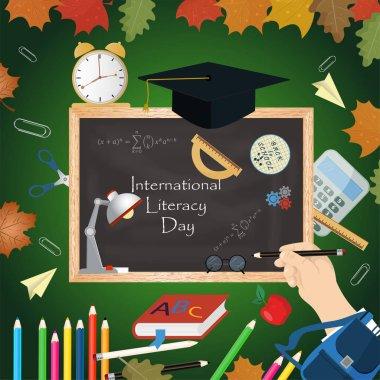 illustration design_7_on school theme, international literacy da
