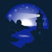 illustration_10_in záporný barevný maják podle stylu moře FL
