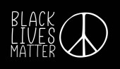 Fotografie BLACK LIVES MATTER. Protestparole, antirassistisch.