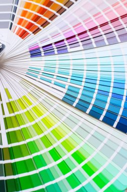 Bright and colorful palette of different colors for design stock vector