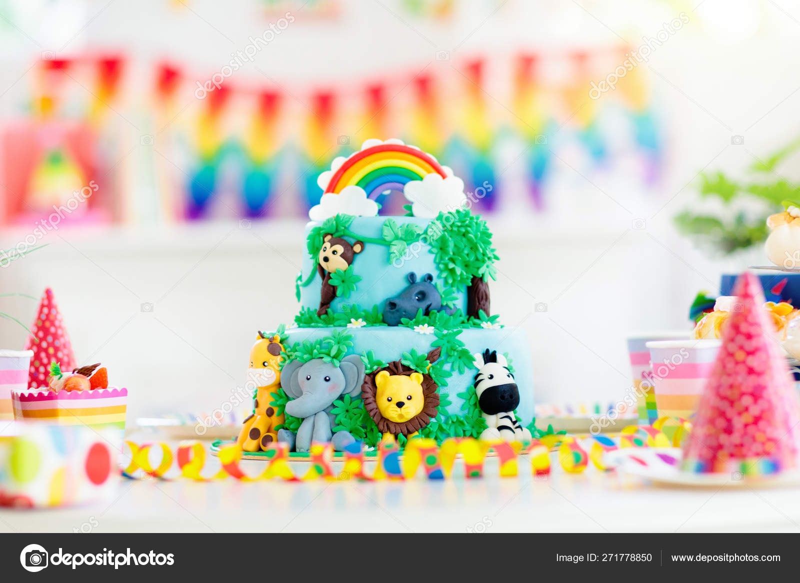 Pictures jungle theme cake