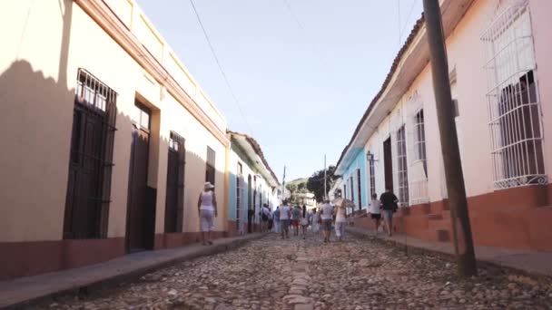 CUBA, TRINIDAD - OCTOBER 18, 2016: city tour. The old streets, the main square, the citizens. Life through the eyes of a tourist in Trinidad.