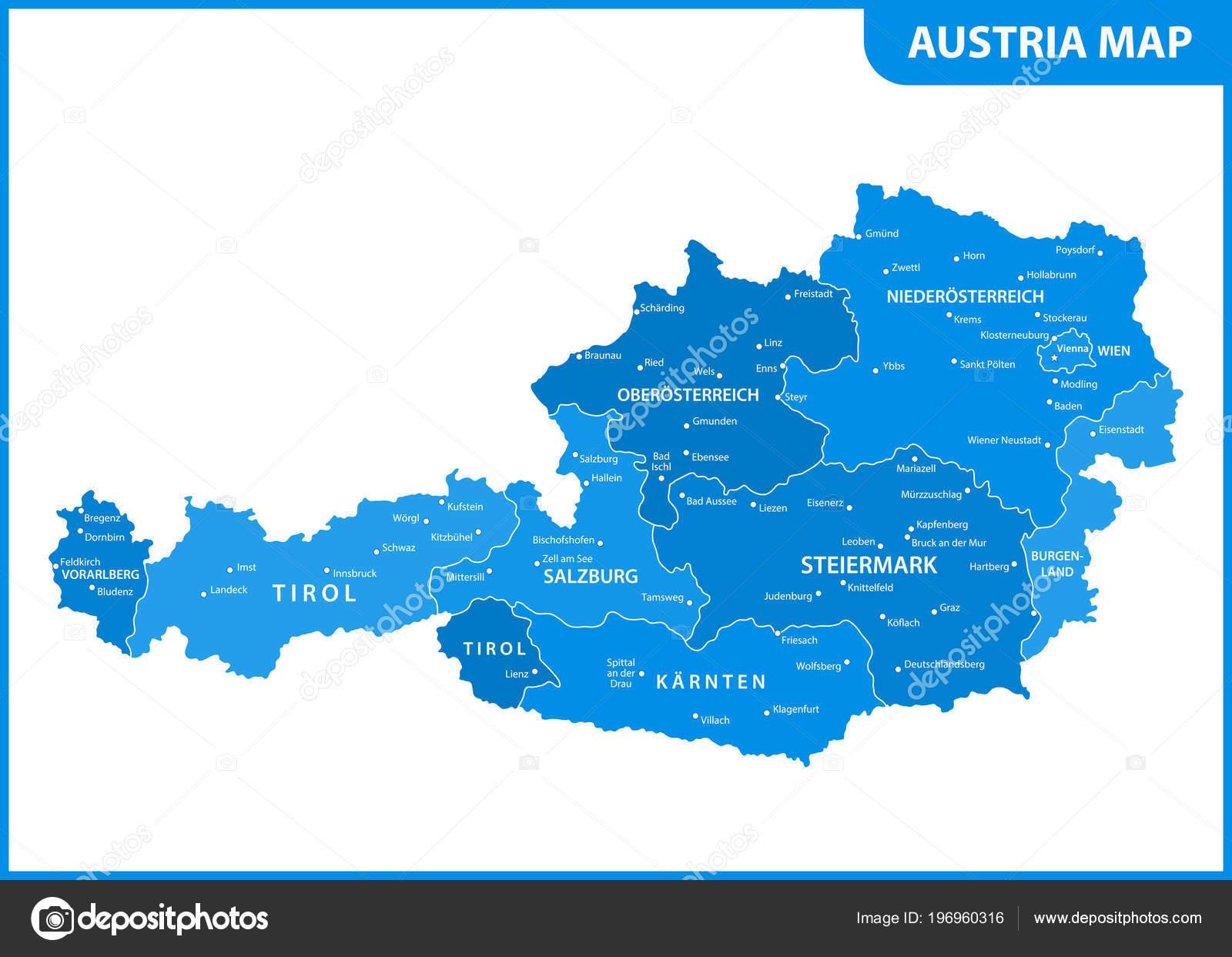 Mapa Podrobna Mapa Rakouska