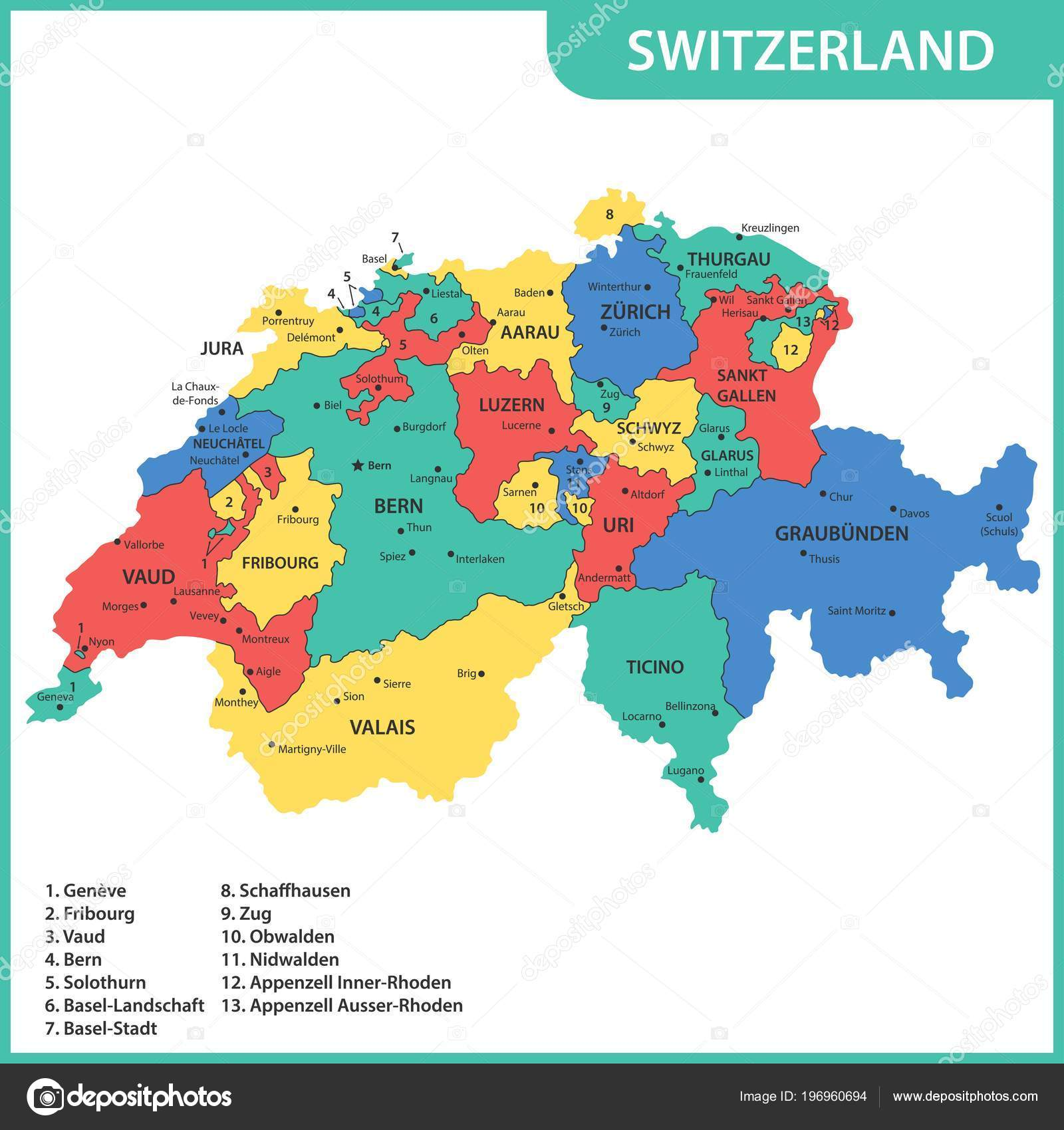 Detailed Map Switzerland Regions States Cities Capitals ... on map spain cities, map tx cities, map with cities, map china cities, map europe, map france cities, map equatorial guinea cities, switzerland largest cities, map italy cities, map georgia cities, map of the usa cities, map germany cities, switzerland alps cities, map az cities, map japan cities, map jordan cities, switzerland capital and major cities, map india cities, map ireland cities, map england cities,