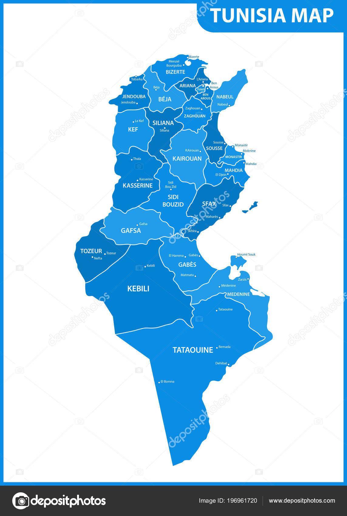 地域または州と都市 首都チュニ...