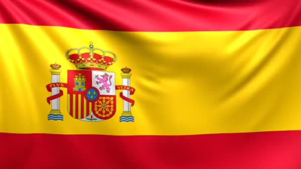 Flag of Spain. Seamless looped video, footage