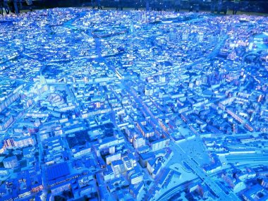 Architectural model of Moscow. Moscow Exhibition of Achievements of the National Economy May 2019