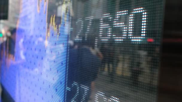 Růst akciového trhu na obrazovce