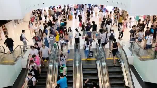 Hong Kong, China - Sep 27, 2017 - Rush hour in the city