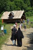 Turisté v zámečku Dunajc poland