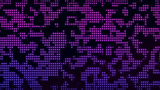 Video animace bodů v modré a růžové tmavém pozadí - abstraktní pozadí