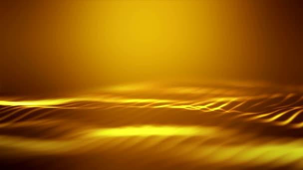 Video animace vln na oranžovém pozadí-abstraktní pozadí