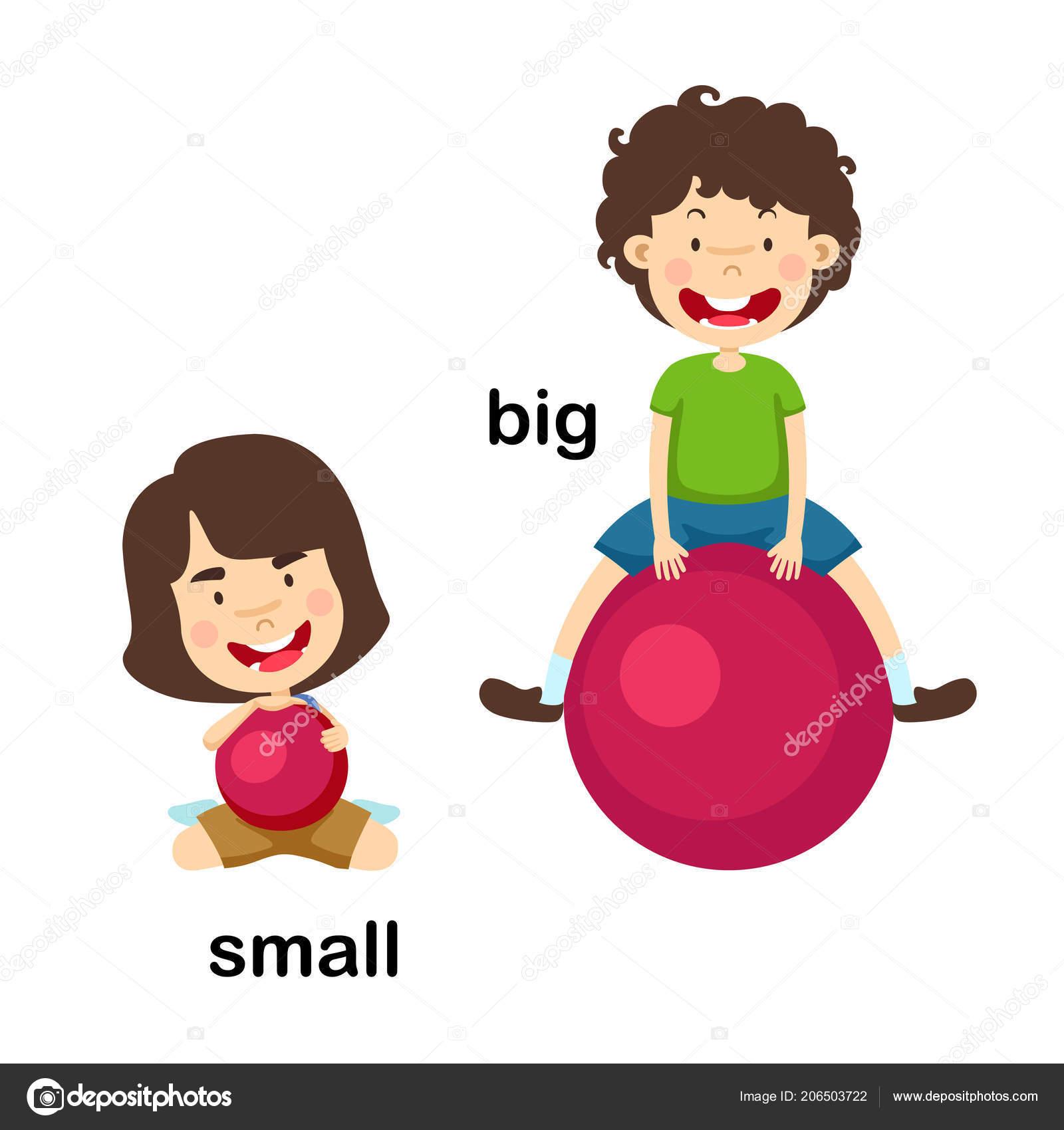 33e20d235a6a Big Small Vector Illustration — Stock Vector © jehsomwang #206503722