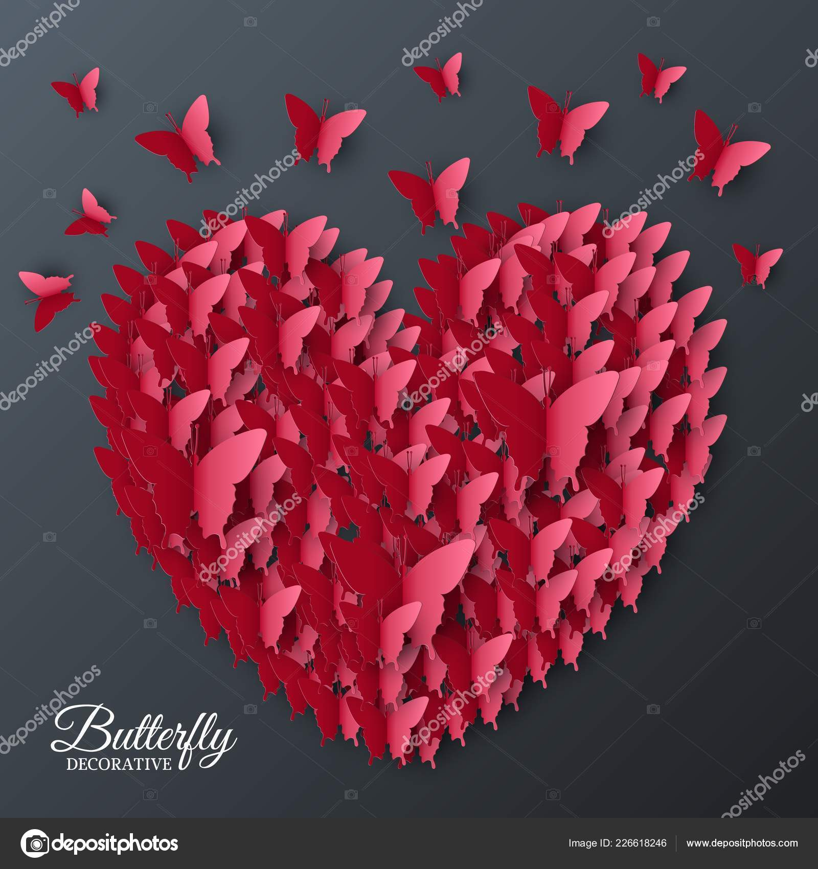 Easy Paper Butterfly – Origami For Beginners – Valentine's Day ... | 1700x1600