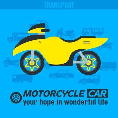 Flat bike background illustration concept. Tamplate for web and mobile design
