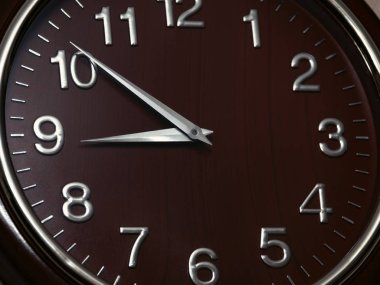 Wall clock close up background