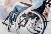 Tělesně postižení, posezení v příjemné venkovní posezení