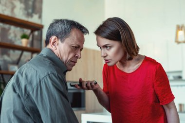Husband feeling in despair after treason of his wife