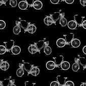 Vector pattern of the bicycles silhouettes