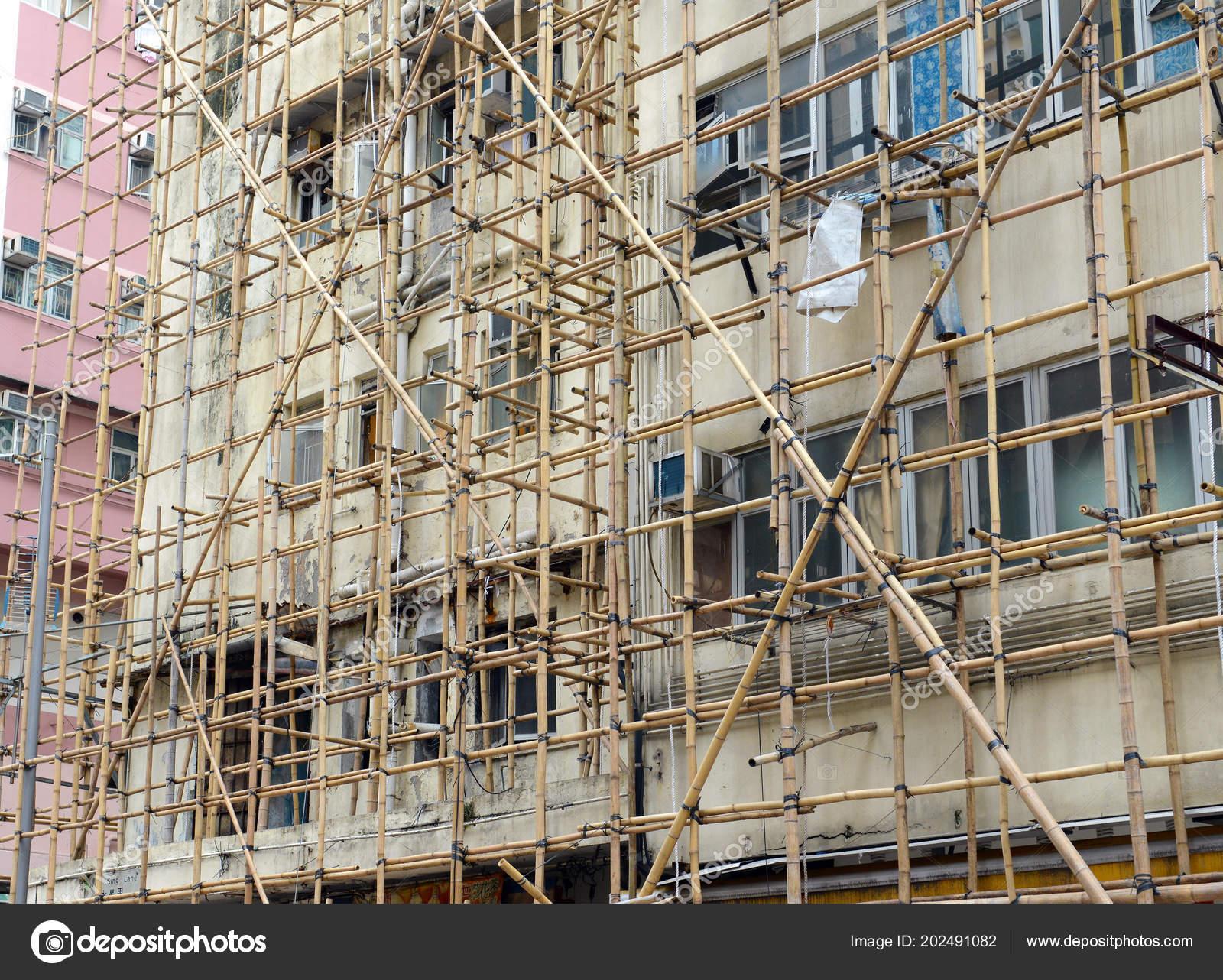 Hong Kong Und China Und Anderen Teilen Asiens Ist Bambus Stockfoto