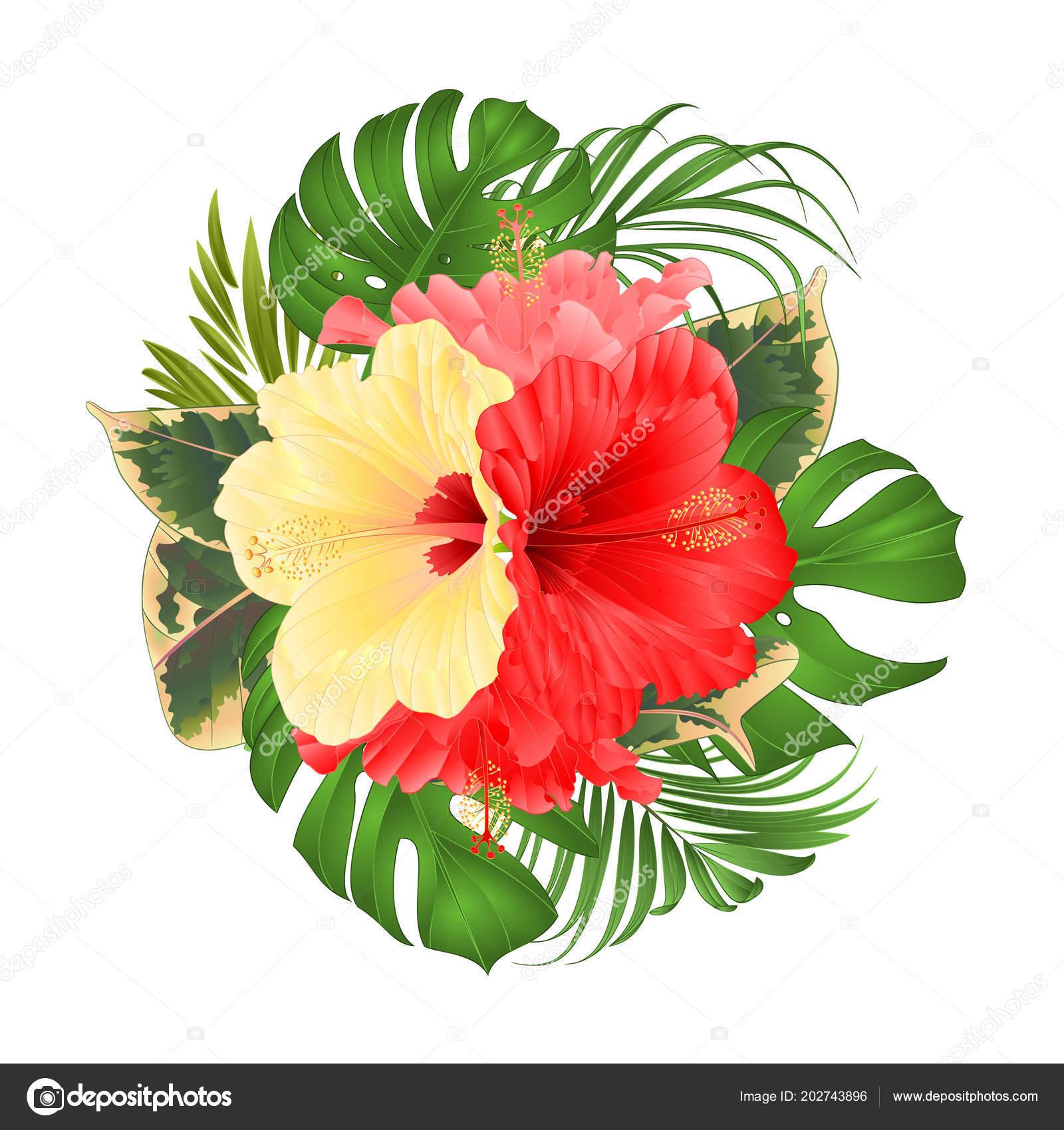 Ramo Tropical Flores Arreglo Floral Con Hermoso Color