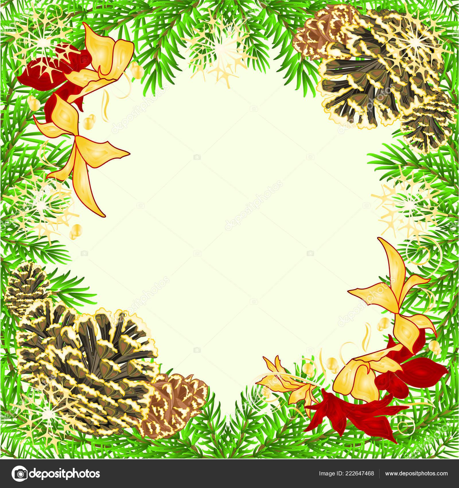 Noel Nouvel Cadre Decoration Rouge Poinsettia Epinette Arbre