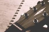 klasszikus gitár notebook zár megjelöl, dalszerző-koncepció