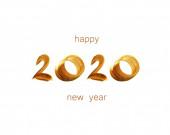 Handgezogene 2020-Zahlen, frohes neues Jahr Hintergrund