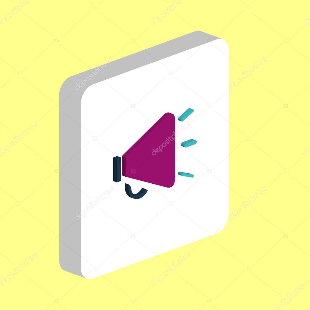 loudspeaker computer symbol
