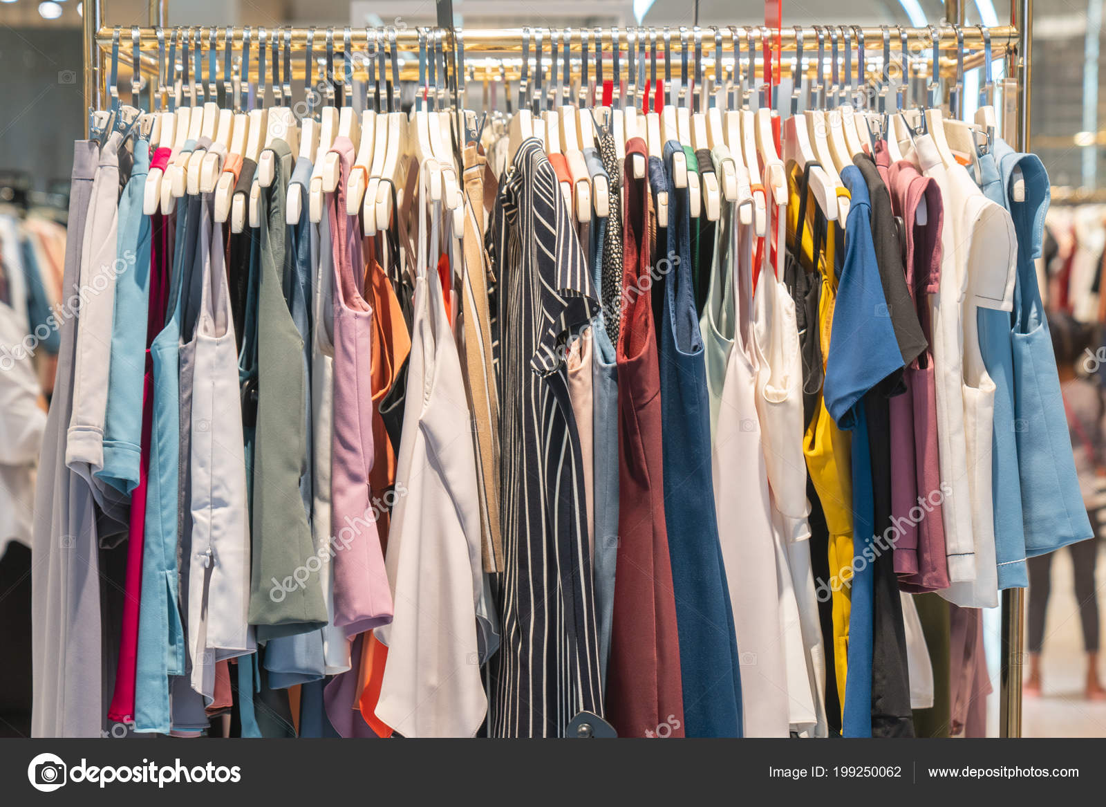 5c373aaa7ad Fashionable Clothes Boutique Store — Stock Photo © ByLove  199250062