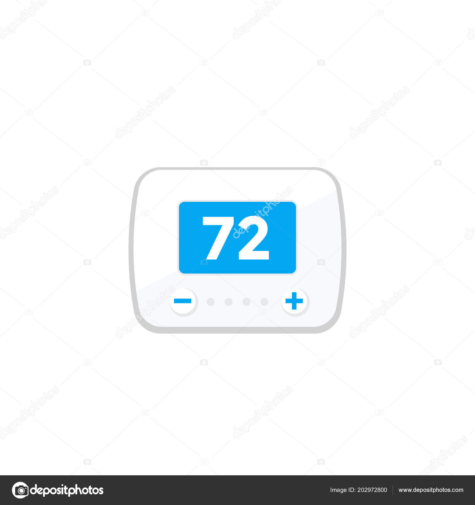 thermostat icon isolated on white stock vector nexusby 202972800