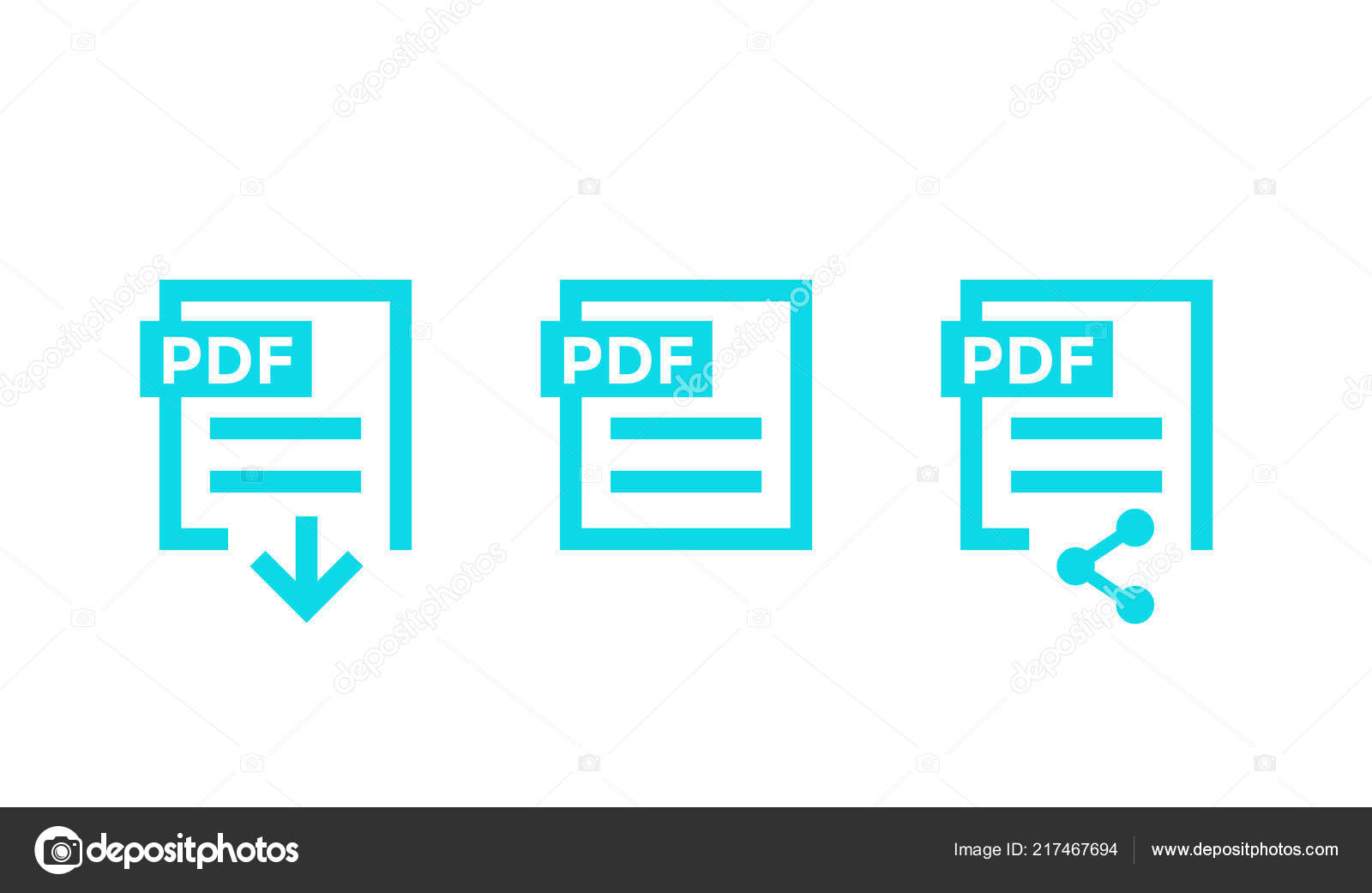 Pdf file download icon, vector illustration royalty free cliparts.