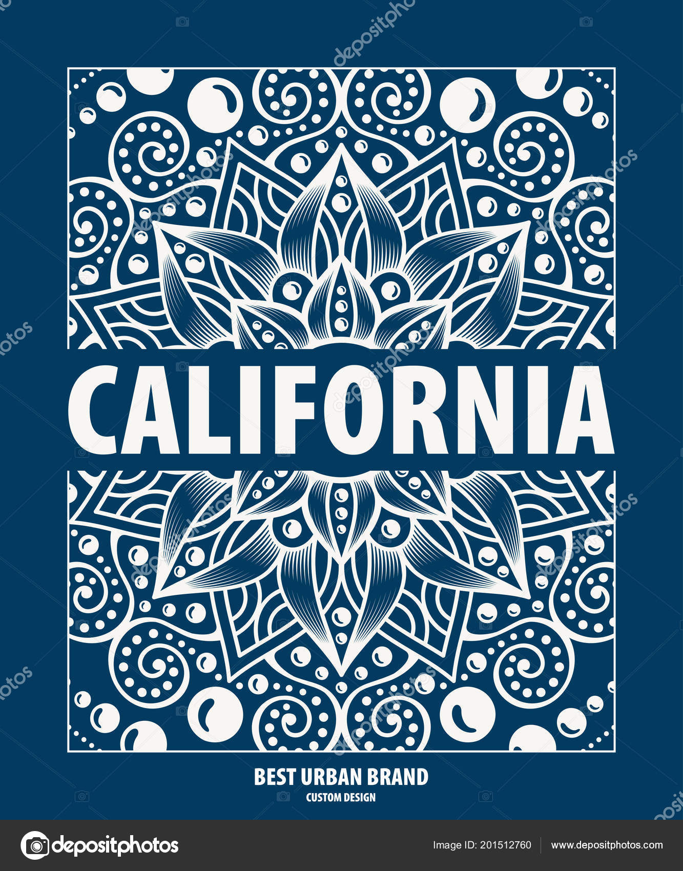 ccc183bb1d0f1 Ilustración de vector sobre el tema de jinete de surf y surf en California  — Vector