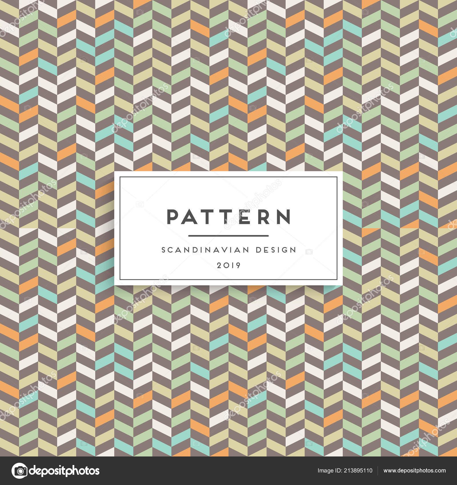 Escandinavo de patrones sin fisuras. Diseño de impresión de tela ...