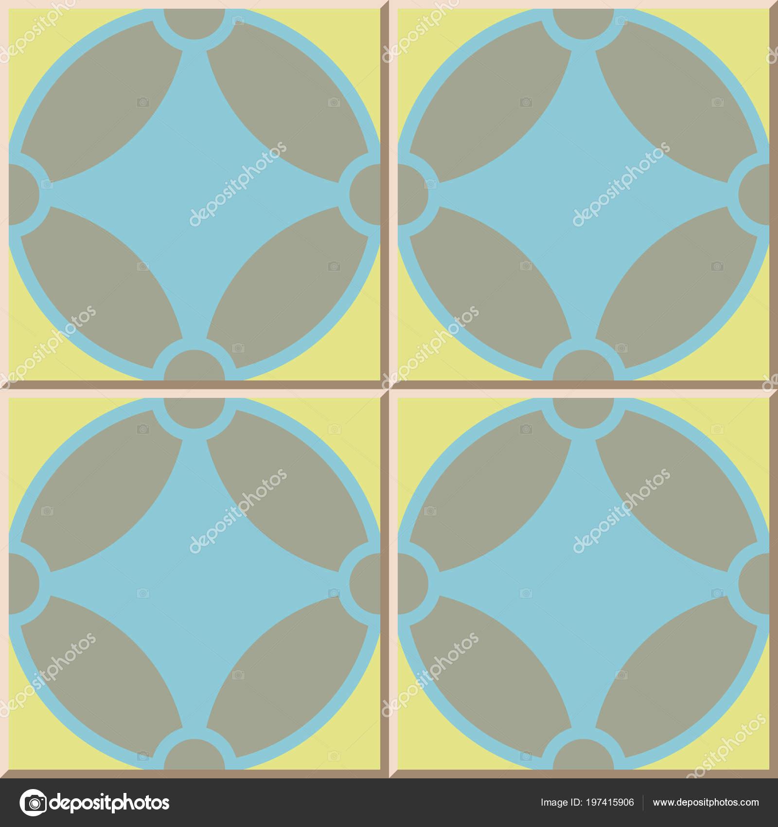 Ceramic Tile Pattern Geometry Curve Cross Oriental Interior Floor ...
