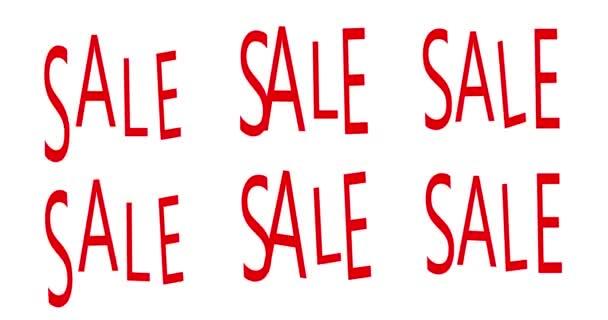 ELADÓ banner sablon, nyomtatható szórólapok, piros szín, reklám, animáció