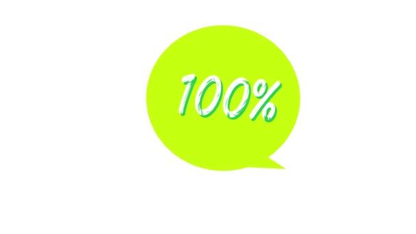 100 Percent text. Burning Logo reveal on black background. 3d render