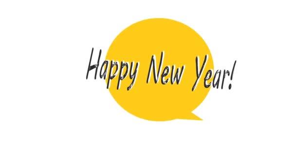 Happy new year 2021. Animation