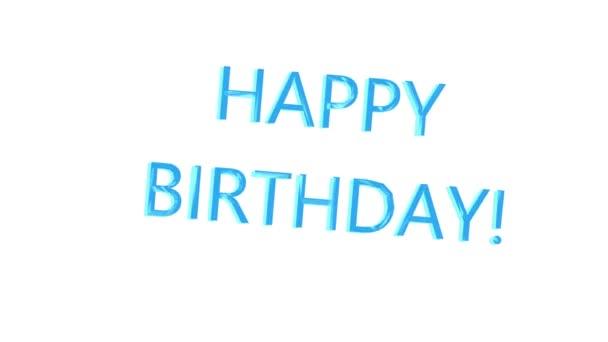 Všechno nejlepší k narozeninám. Oslava. Barevná písmena