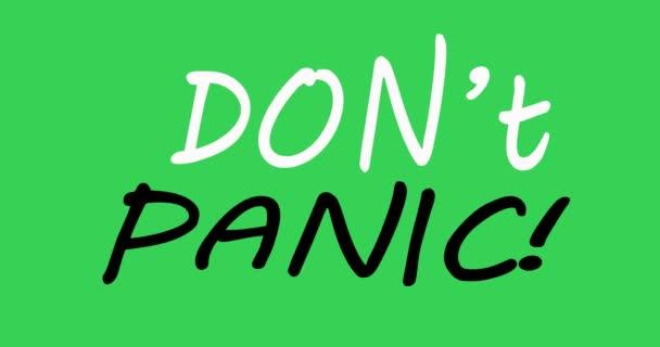 KEIN PANISCHER Text. Spread Blase mit Worten. Keine Panik. Bunt. Handgezeichneter Cartoonstil. 3D-Darstellung