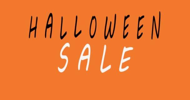 Halloween Eladó különleges ajánlat banner sablon kézzel rajzolt betűkkel nyaralás vásárlás. Csak korlátozott ideig