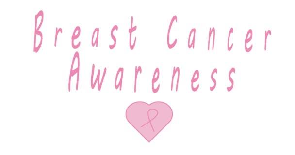 Brustkrebs-Logo. Pinkfarbenes Band Krebsbewusstsein auf schwarzem Hintergrund, Krebsbewusstsein. Modernes Logo für Sensibilisierungskampagnen im Oktober. Welttag des Brustkrebsbewusstseins